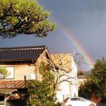 大きな虹が出ました🌈